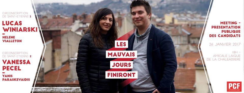 Discours de la JC42 au meeting des candidats LES MAUVAIS JOURS FINIRONT aux élections législatives 2017