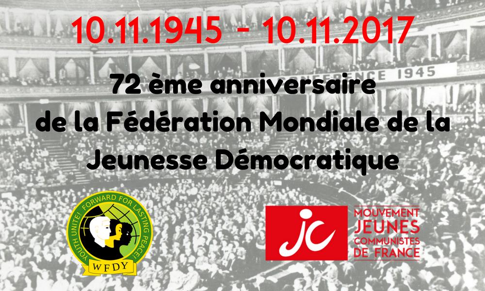 72e anniversaire de la Fédération Mondiale de la Jeunesse Démocratique
