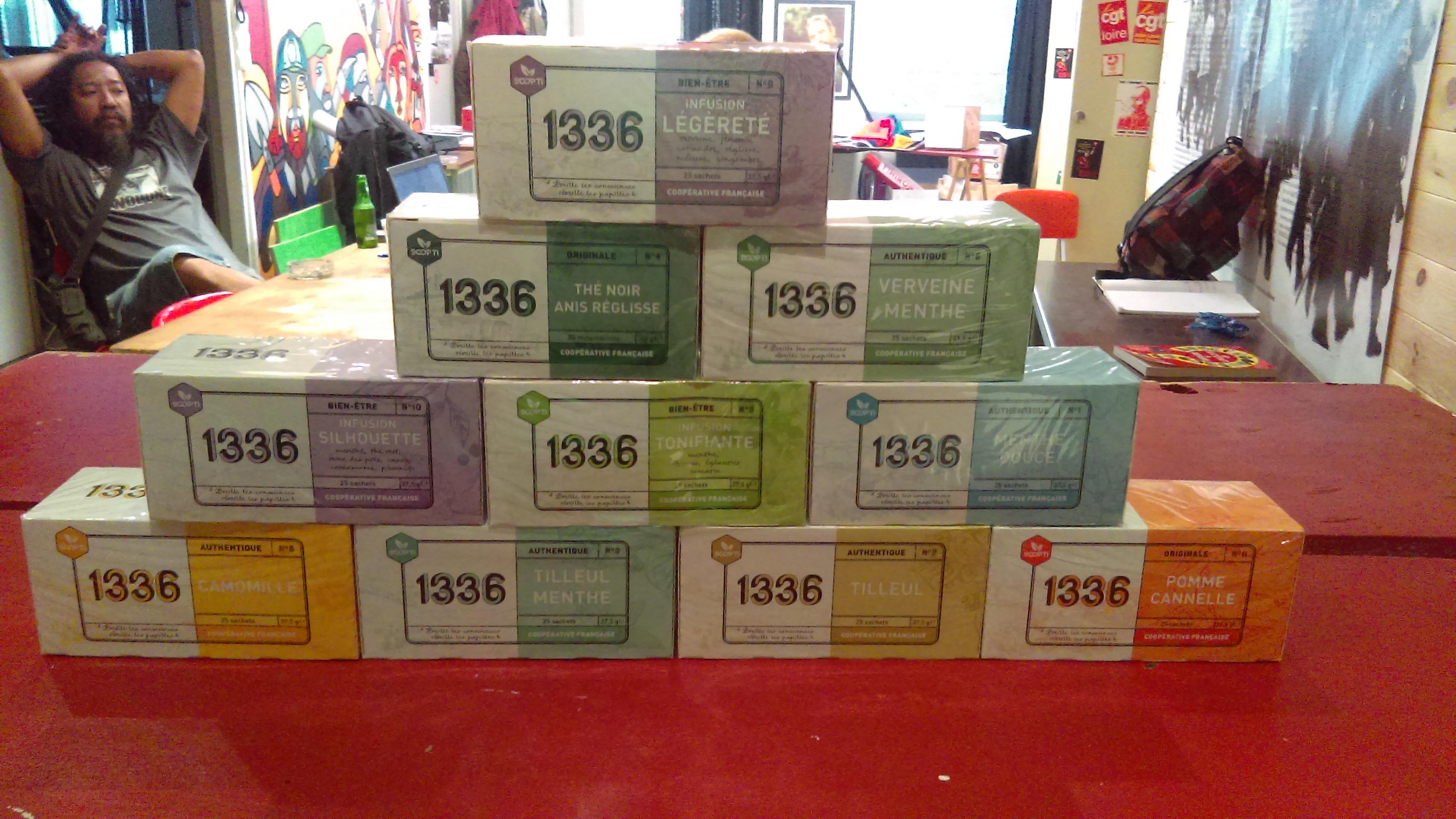 Vente de thés et infusions bio 1336